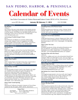 our current updated two week events calendar in