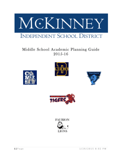 Middle School Academic Planning Guide 2015-16