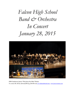 Concert Program January 28 - Falcon HS Band and Orchestra