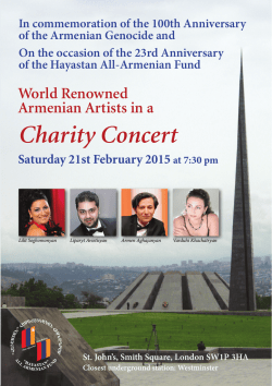 Charity Concert - Hayastan All