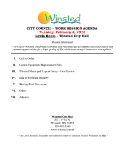 City Council Packet February 3, 2015