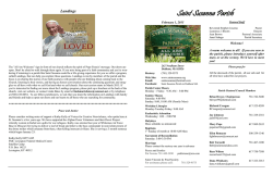 Current Bulletin - Saint Susanna Parish