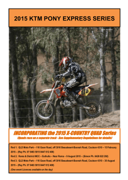 2015 KTM PONY EXPRESS SERIES