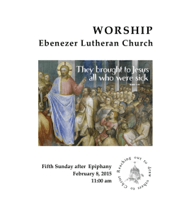 Weekly Bulletin - Ebenezer Lutheran Church
