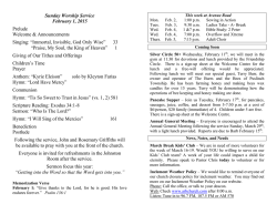 Bulletin - Avenue Road Baptist Church