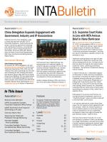 In This Issue - International Trademark Association