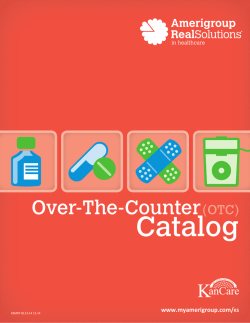Over-The-Counter (OTC) Catalog