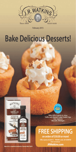 Bake Delicious Desserts! FREE SHIPPING