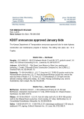 KDOT announces approved January bids