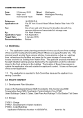 COMMITTEE REPORT - City of York Council