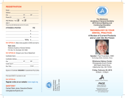 full brochure. - Oklahoma Academy of General Dentistry