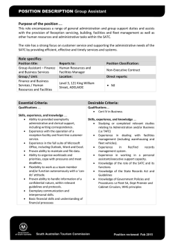 Position Description - South Australian Tourism Commission