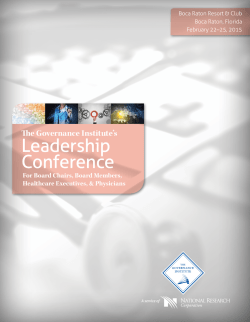 Leadership Conference - The Governance Institute