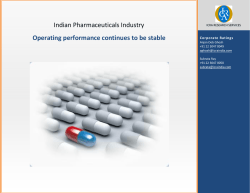 Indian Pharmaceuticals Industry Operating performance