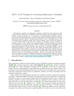 MVN: An R Package for Assessing Multivariate Normality