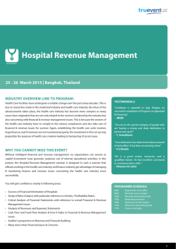 PH19 - Hospital Revenue Management-Ryan