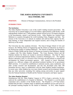 the johns hopkins university baltimore, md
