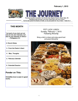 The Journey Newsletter - Brown Deer Baptist Church