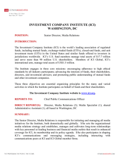 investment company institute (ici) washington, dc