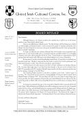 Download Newsletter - United Irish Cultural Center