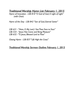 weekly sermon/hymn listpages
