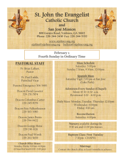 Bulletin - St. John the Evangelist Catholic Church