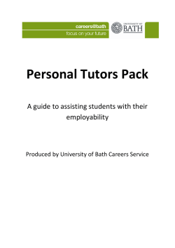 Personal Tutors Pack