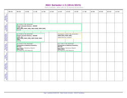 Open PDF Timetable - Robert Gordon University
