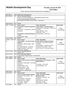Mobile Development Day Agenda