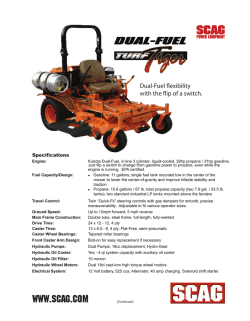 Specifications - Scag Power Equipment