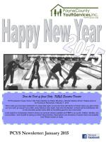 PCYS Newsletter: January 2015