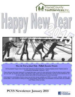 PCYS Newsletter: January 2015