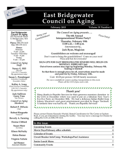East Bridgewater Council on Aging
