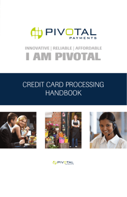 New Merchant Booklet - Terminal Upgrades LLC