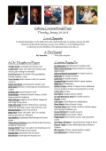 Weekly Galloway Connection Sheet