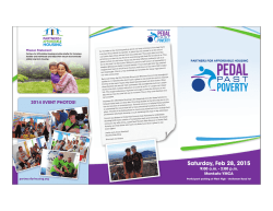 Pedal Past Poverty 2015 Brochure - Partners for Affordable Housing