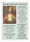 Parish Bulletin for the Fourth Sunday in Ordinary Time