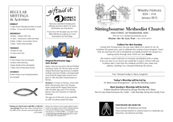 Weekly Bulletin - Sittingbourne Methodist Church