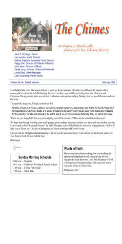 Newsletter (current issue) - Almaden Hills United Methodist Church