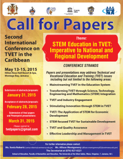 Second International Conference on TVET in - UNESCO