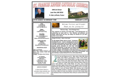 BULLETIN-February 1 , 2015.pub - St. Francis Xavier Catholic Church
