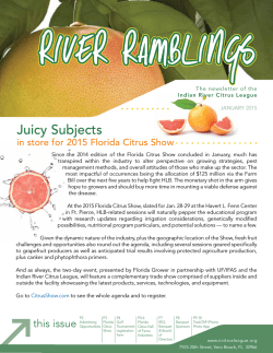 2015 Jan Issue - Indian River Citrus League