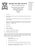 DOCKET OF THE COUNCIL - North Kingstown Government