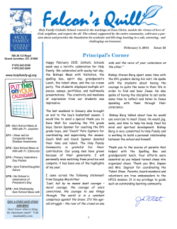 Current Newsletter - Holy Family Catholic School