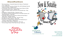 to view the February 2015 new books list.
