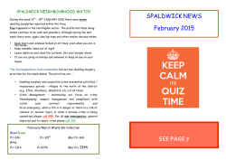 Feb 2015 - SPALDWICK Website