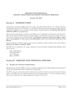 View RFP - Butte School District # 1