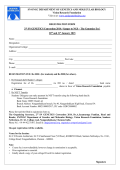 REGISTRATION FORM 2nd SN GENETICS Convention 2014