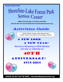 January/February/March 2014 Newsletter - Shoreline