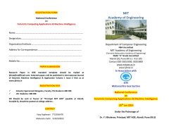 Brochure - MIT Academy of Engineering